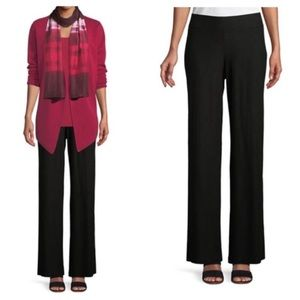 Eileen Fisher Wide Leg Crepe Stretch Pants